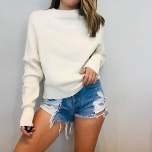 NWT Free People off white cozy ribbed sweater